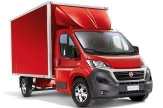 Red box van Fiat Ducato