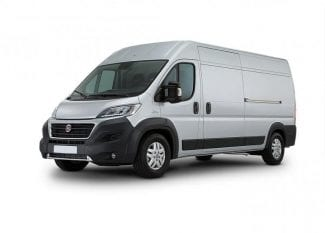 Peugeot Boxer white van car rental Prague airport