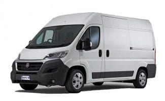 Car rental Prague van hite van Fiat Ducato 11.5m3
