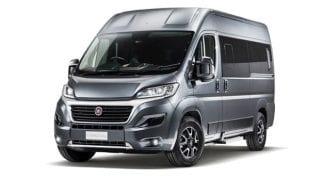 Silver van Fiat Ducato microbus