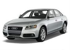 Silver car Audi A4 sedan