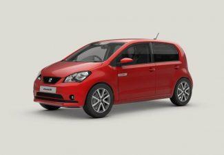 červený auto VW Up